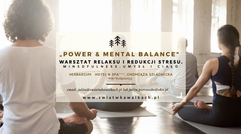 """WARSZTAT RELAKSU IREDUKCJI STRESU """"POWER & MENTAL BALANCE. Umysł iciało"""".  HERBARIUM. HOTEL & SPA 4*. KUJAWY"""